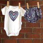 Baby girl deer design outfit size 0-3 months, baby shower gift girl