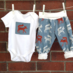 Teal fox outfit, choose your size and bodysuit sleeve length