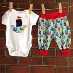Baby boy size 0-3 months pirate outfit. shower gift boy