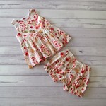 Cute peplum outfit size 3, top and bloomer shorts