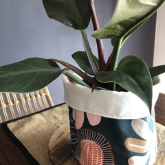 Plant poncho, botanical fabric plant cover, stash bag, earthy interiors 4 plants