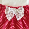 Size 00 Baby girl pink polka dot kitty outfit, 2 piece set girl