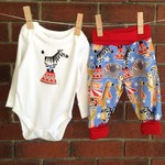 Baby boy circus outfit, size 3-6 months, baby shower gift boy