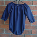 Navy playsuit girl, baby girl clothes, short or long sleeves. choose size,sleeve