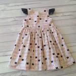 Little girl's dress,  kitty flutter sleeve dress, 18 mths to 3, toddler dress