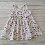 Cute white koala dress size 4, premium cotton fabric