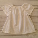 White embroidered voile top, size 18 months