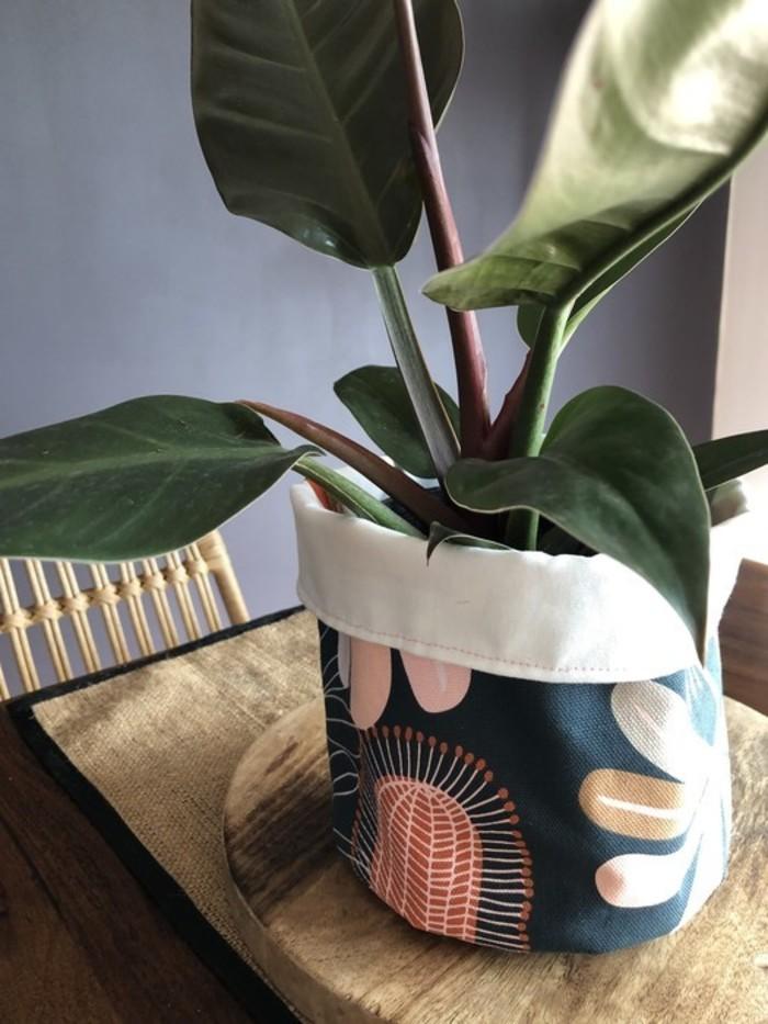 Plant poncho, botanical fabric plant cover, stash bag