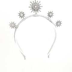 STARBURST Silver Stars Crown,Fascinator,Tiara,Headpiece