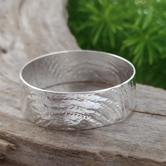 Large band thumb ring, Sterling silver. Upcycled from Vintage Silverware.