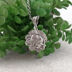 Sterling silver ROSE PENDANT, Upcycled from Vintage Spoon.
