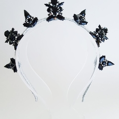 N O I R • Crown,Fascinator,Tiara, Headpiece