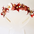 P E T I T E • F L E U R Leather Crown,Headband, Leather Flower Headpiece