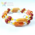 Citrus Splash Paper Bead Bracelet