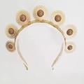 C O S M O S,Crown,Tiara, Halo, Gold Leaf Headpiece