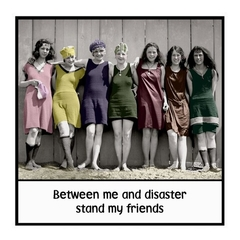 Friend Gift Magnet | Between me and disaster stand my friends