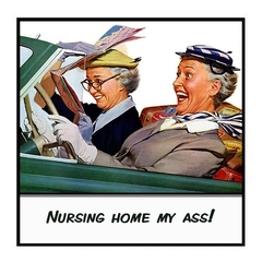Funny Friend Gift Magnet | Nursing home my ass!