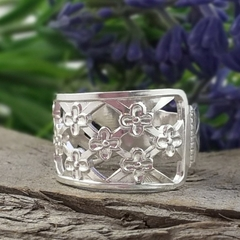 FLORAL SPOON RING, Upcycled from Solid Silver Vintage Spoon.