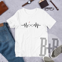 Glasses heartbeat -White unisex tee (Harry Potter)