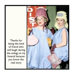 Funny Friend Gift Magnet | You know the real story | Lucy and Ethel