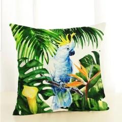 Australian Native Coctacoo Cushion Cover, linen, size 45x45 cm
