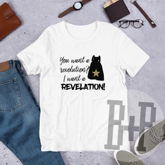 Revelation -White unisex tee (Hamilton the Musical)