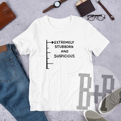 Extremely Stubborn -White unisex tee (Mary Poppins)
