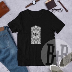Tardis Mandala Run -Black unisex tee (Doctor Who)