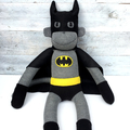 'Batmonkey' the Sock Monkey (Superhero) - *MADE TO ORDER*