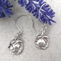 ROSE EARRINGS, Upcycled from Solid Silver Vintage Spoons.