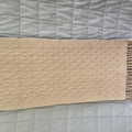 100% Cotton Scarf, Handwoven, Ivory / Latte