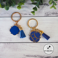Enamel & Gold Scroll Keyring. 10 Colours available. Mother's Day Gift Nan Gran
