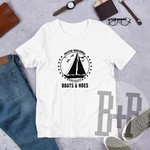 Boats and Hoes -White unisex tee (Step Brothers)