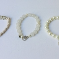 Beachy boho chic bracelet stack. One of a kind jewellery.