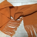 Handwoven pure wool scarf