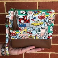 Super Cat - Wristlet with leather accent