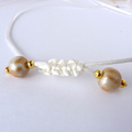 Large Resin Sea Shell Pendant with Gold & White Sea Shells, Beach Jewellery