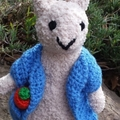 Little Rabbit, Bunny approx 20cm tall - hand knitted soft toy.