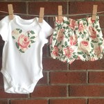 Choose your size, baby girl rose floral outfit , sizes to 18 months