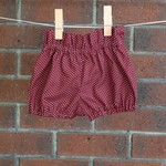 High waisted shorts and headband, maroon polka dot, size to 3T , choose size