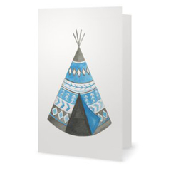 Blue Teepee Greeting Card