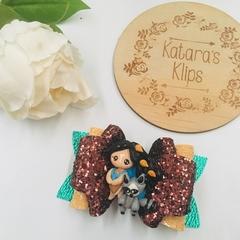 Disney Princess Inspired Pocahontas Bow, Birthday Bow