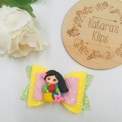 Disney Princess Inspired Bow, Mulan Birthday Bow