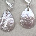 TEARDROP EARRINGS, Sterling silver. Upcycled from Vintage Spoons.