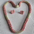 Rope Necklace and Earrings Set