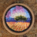 The Lunch Grove Hand Embroidered Landscape Hoop Embroidery Thread Painting