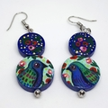 Folk Art Bird Earrings