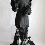 Black Steampunk Winged Propellers Wedding Gown Tailor-Made