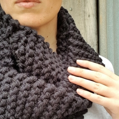 Handmade Australian merino wool loop scarf