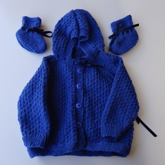 0 - 6 Months Baby Jacket with matching Bootees